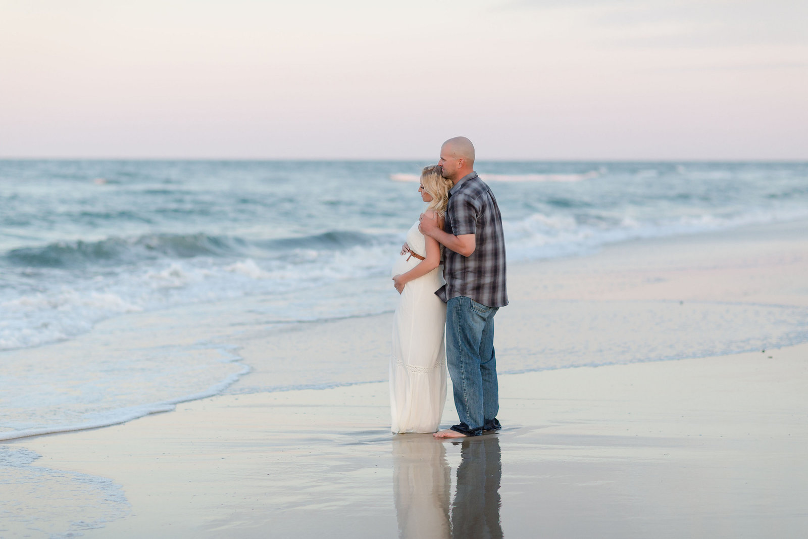 Beautiful Ocean Inspired maternity session by brooke tucker photography