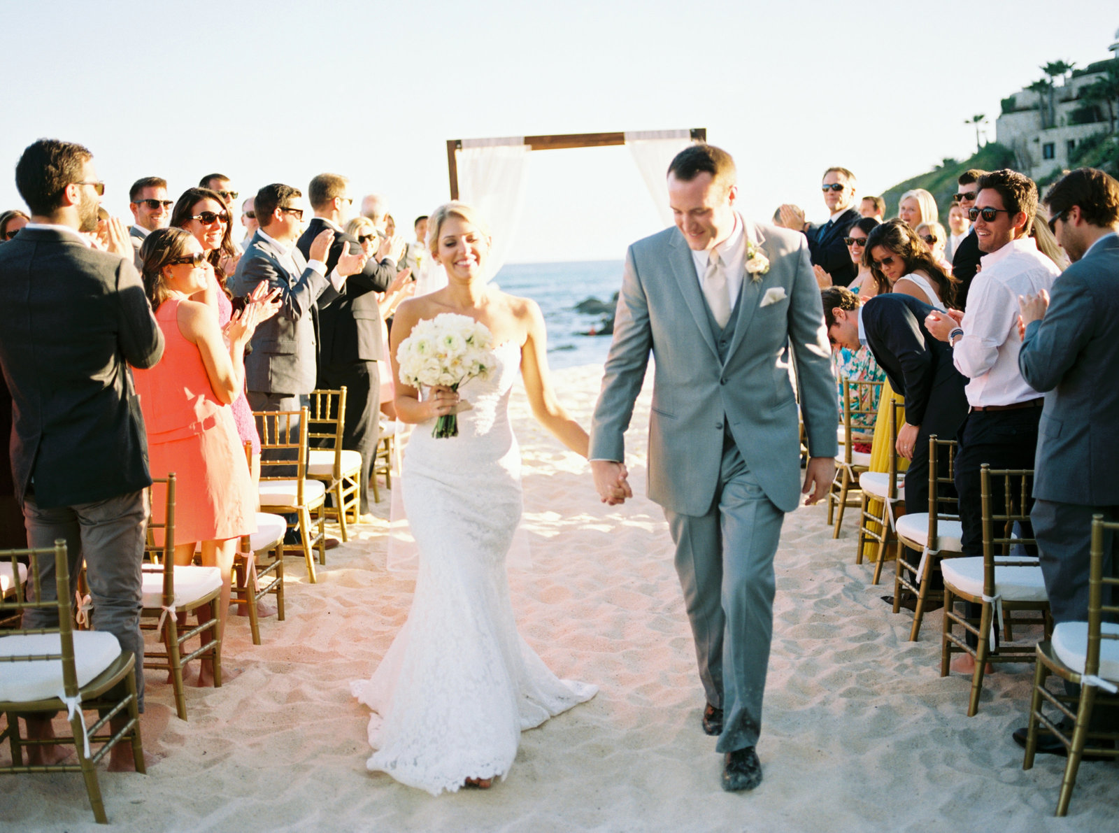 Cabo Mexico Destination Wedding, Ceremony of beach,  Fine Art Film