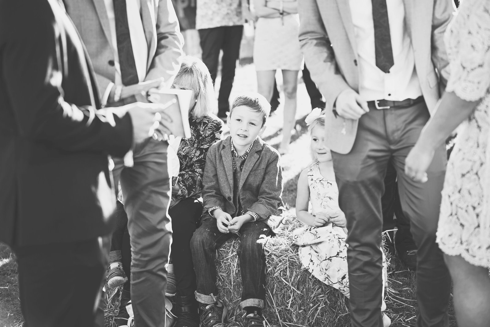 portrait of a child at a wedding in Norfolk