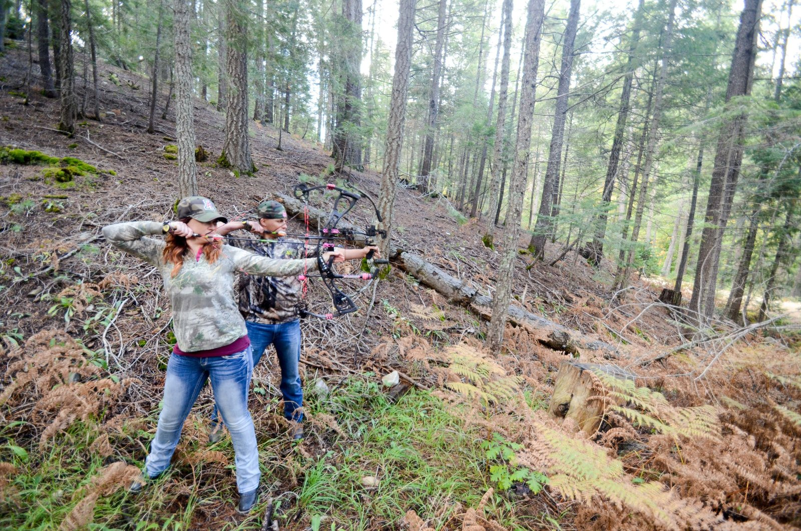 Mt Lemmon Tucson Arizona Archery Hunting Inspired Portrait Session Casey and Miriam-32