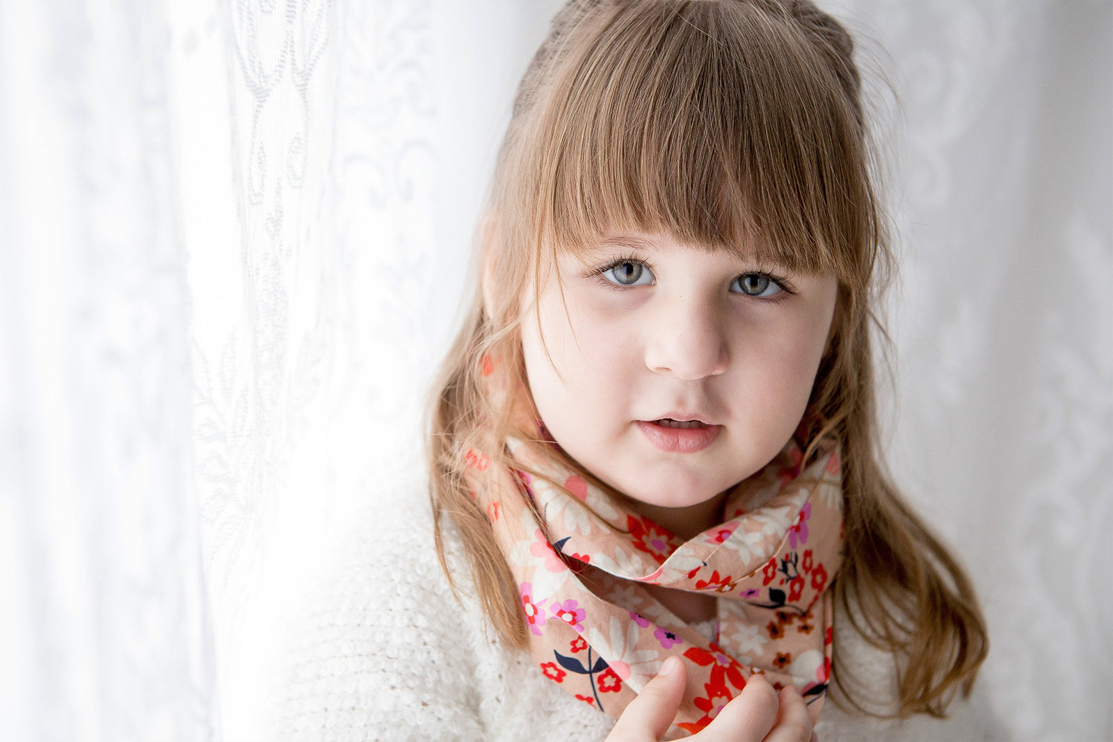 Preschool child studio portraits by Hudson Valley NY children's photographer in Cornwall