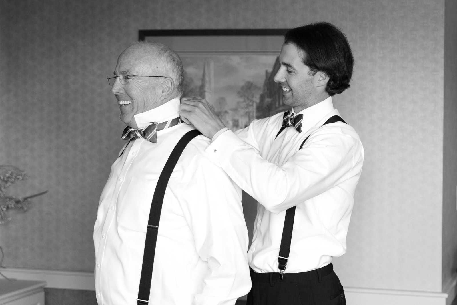 Father Groom Getting Ready Photo