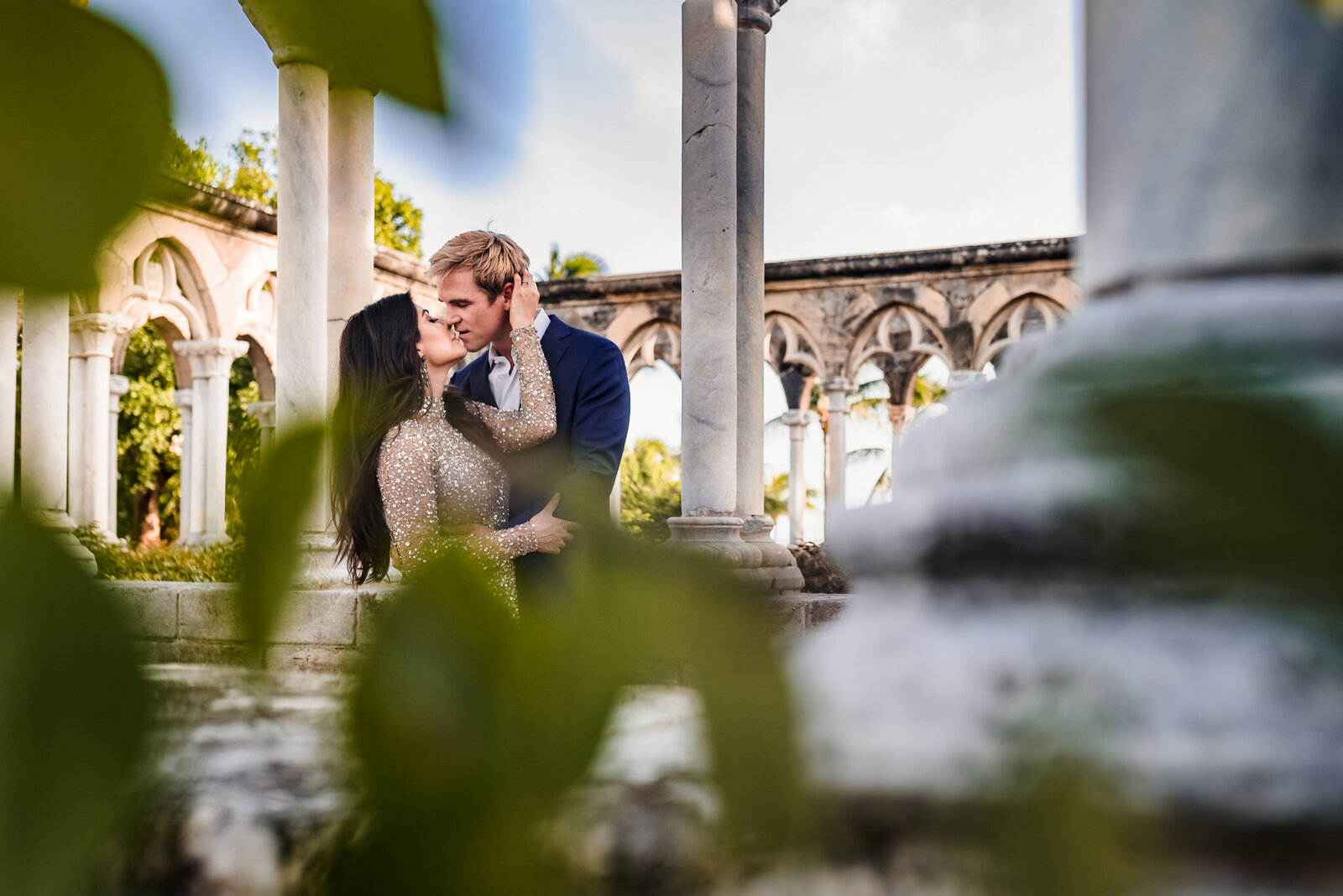 Beautiful couple at The Cloisters  in The Bahamas