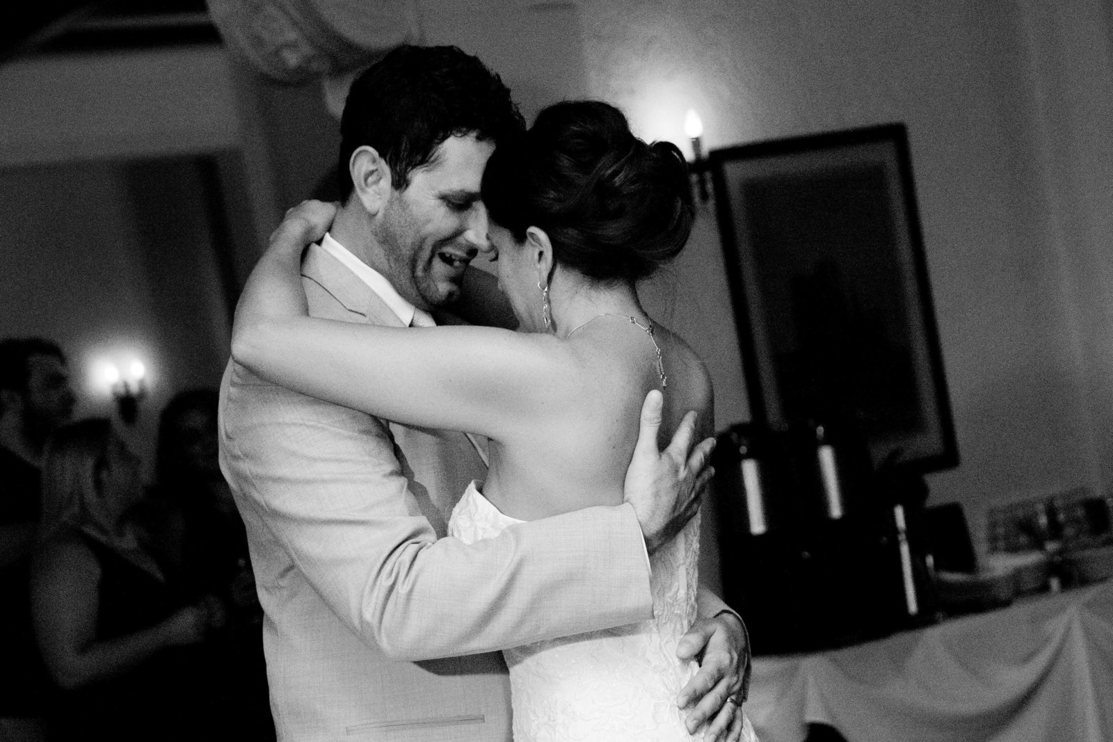 bride and groom first dance at the University Club in Madison WI