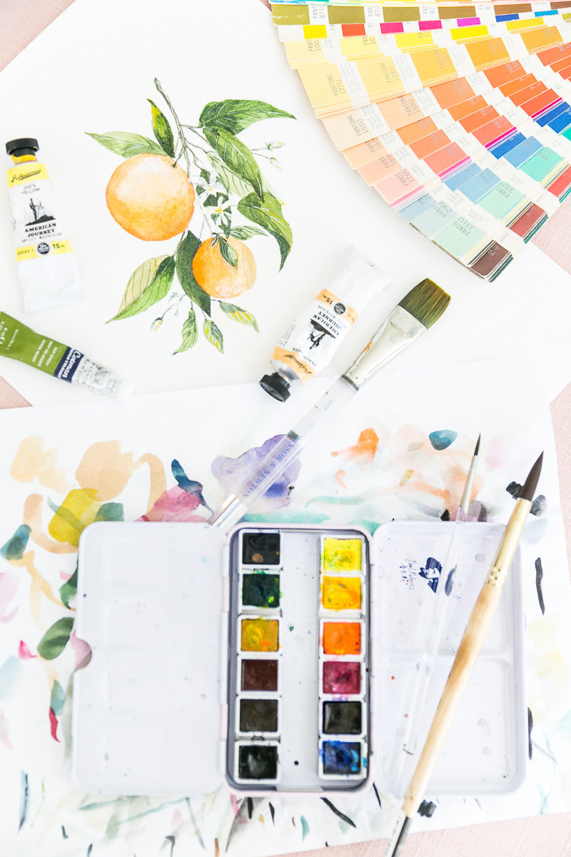 Orlando branding photographer | Cami Monet watercolor artist brand session_-15