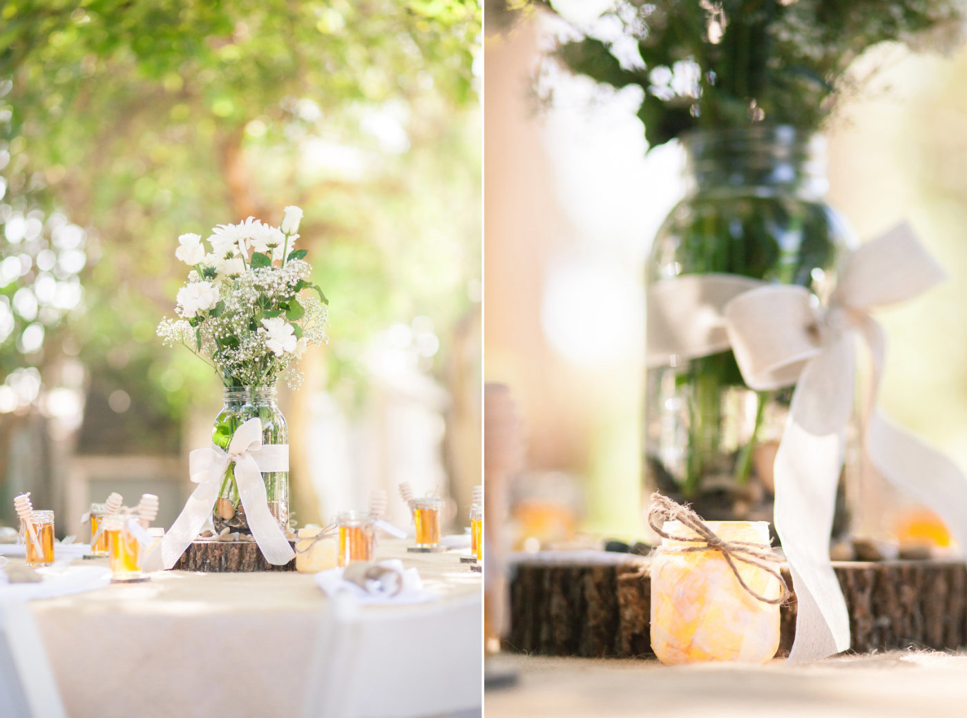 Nipomo CA Wedding Details, Flowers, Tables