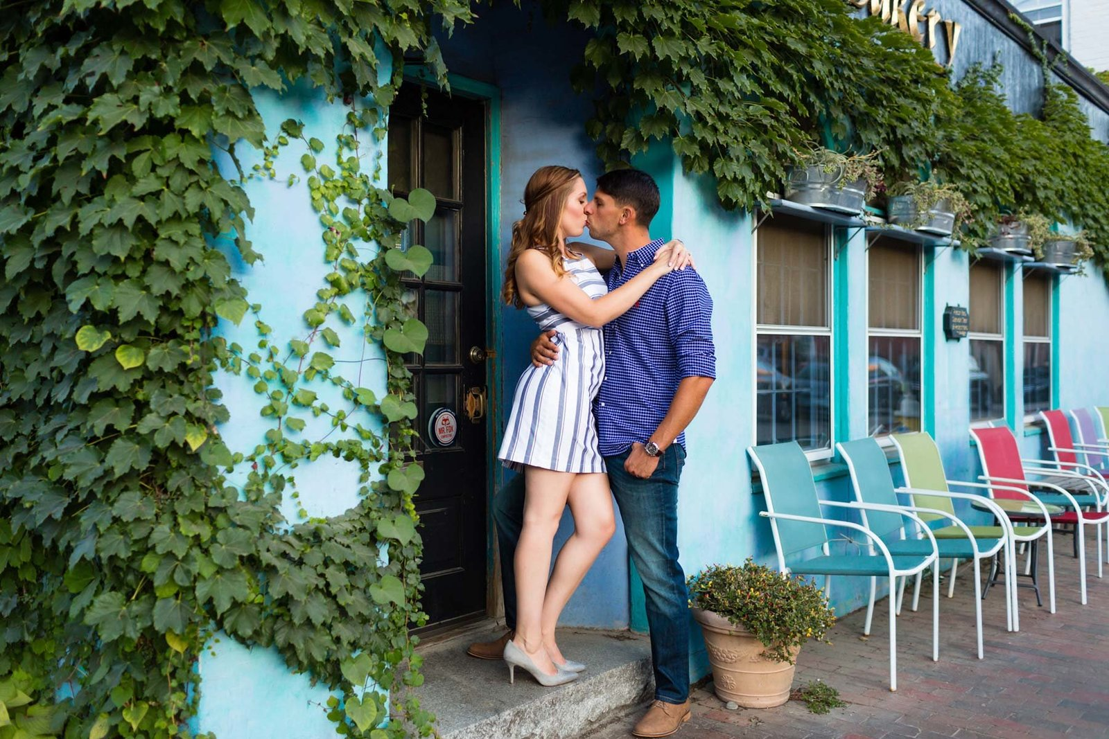 Portsmouth New Hampshire Engagement Session Downtown Image