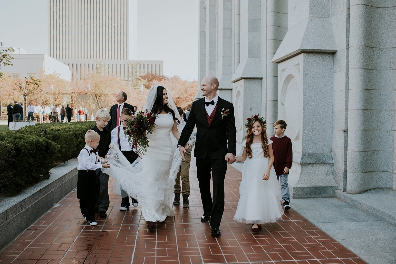 Utah Wedding Photographer Kamille Bauer Cody Calderwood Salt Lake Temple Salt Lake Hardware Building_0277