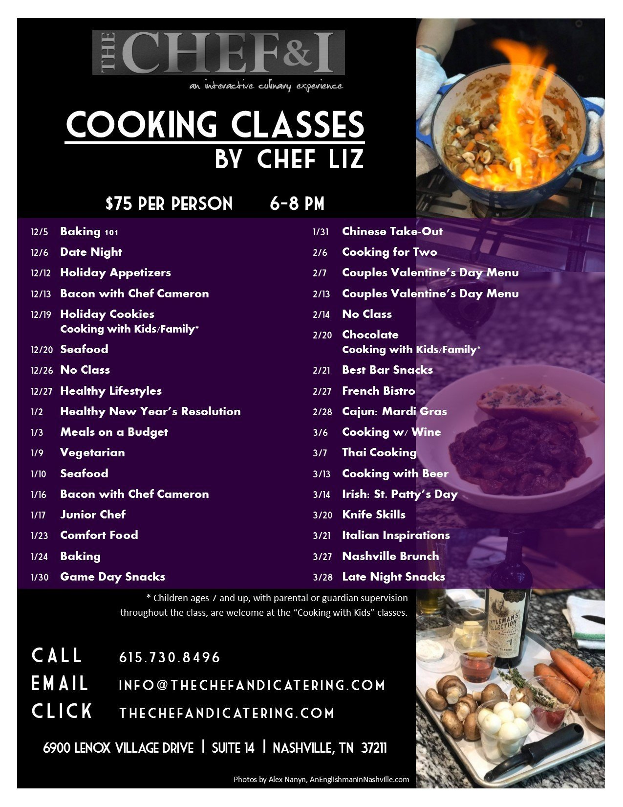 Cooking Classes 1st Qtr 2017