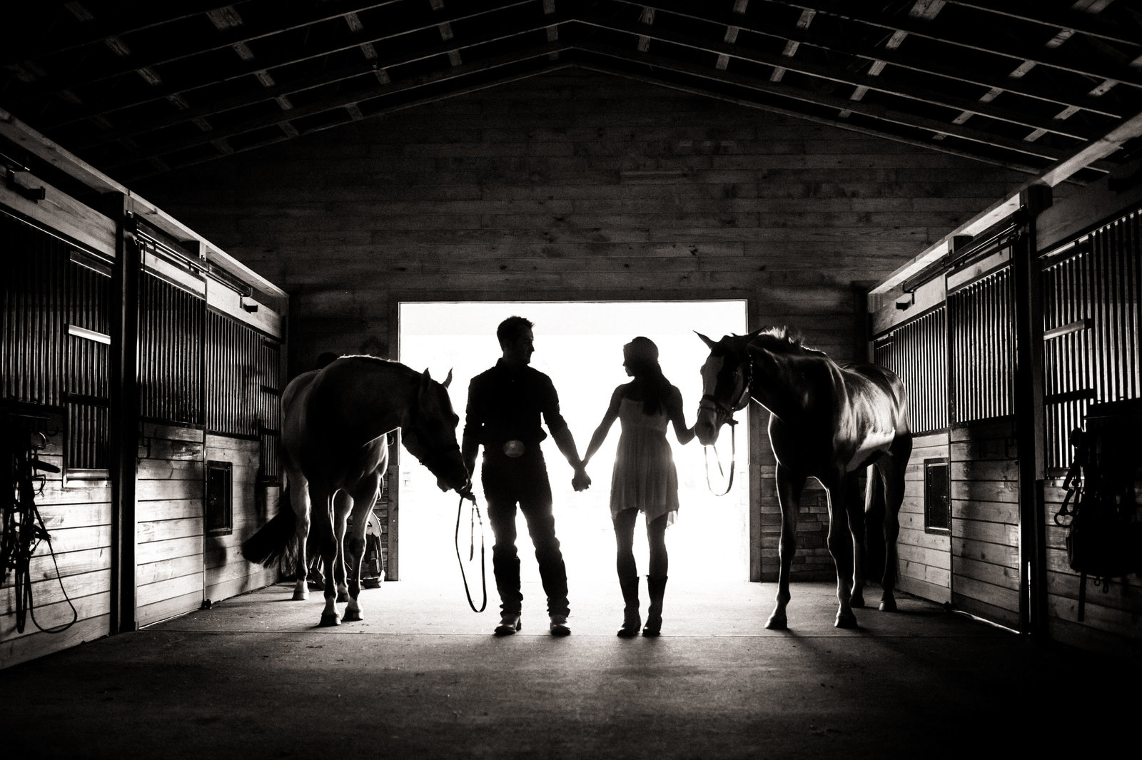 Engagement Photos Horses