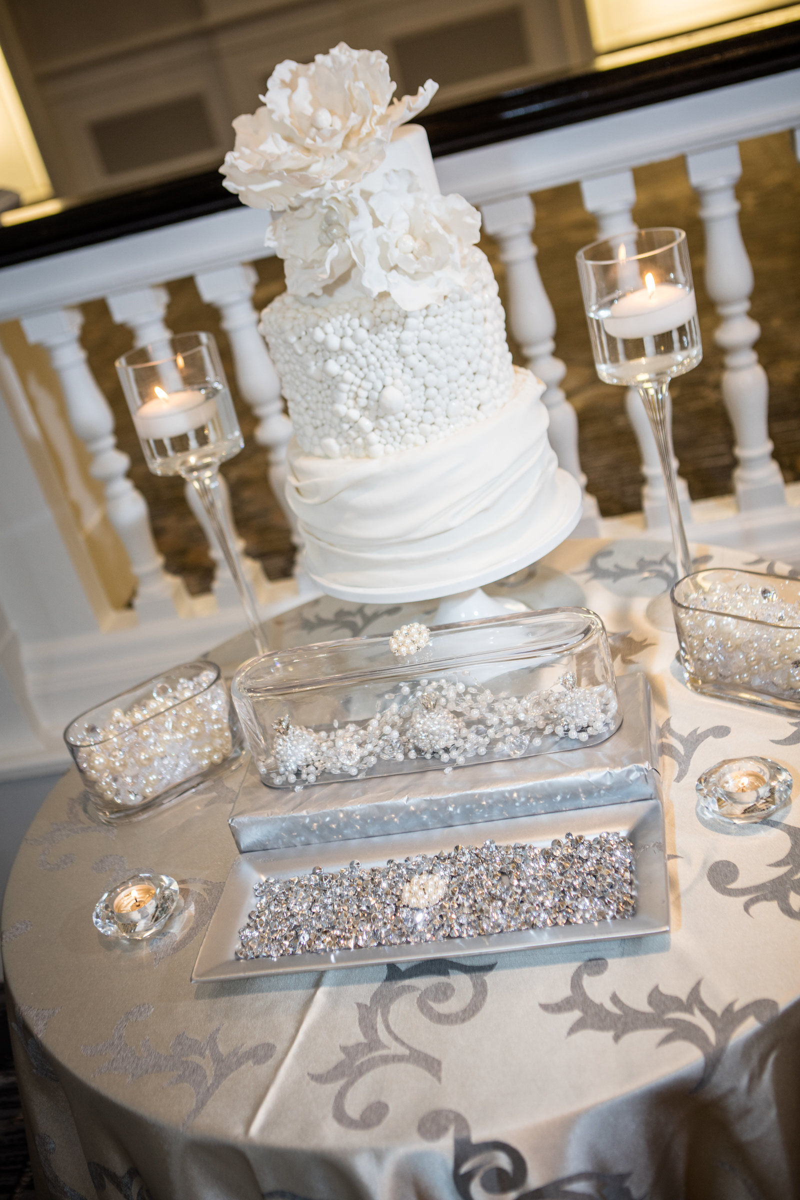 Bling and sparkle cake table