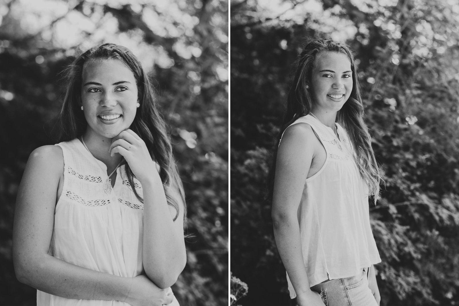 black and white portrait of high school grad in Portland Oregon | Susie Moreno Photography