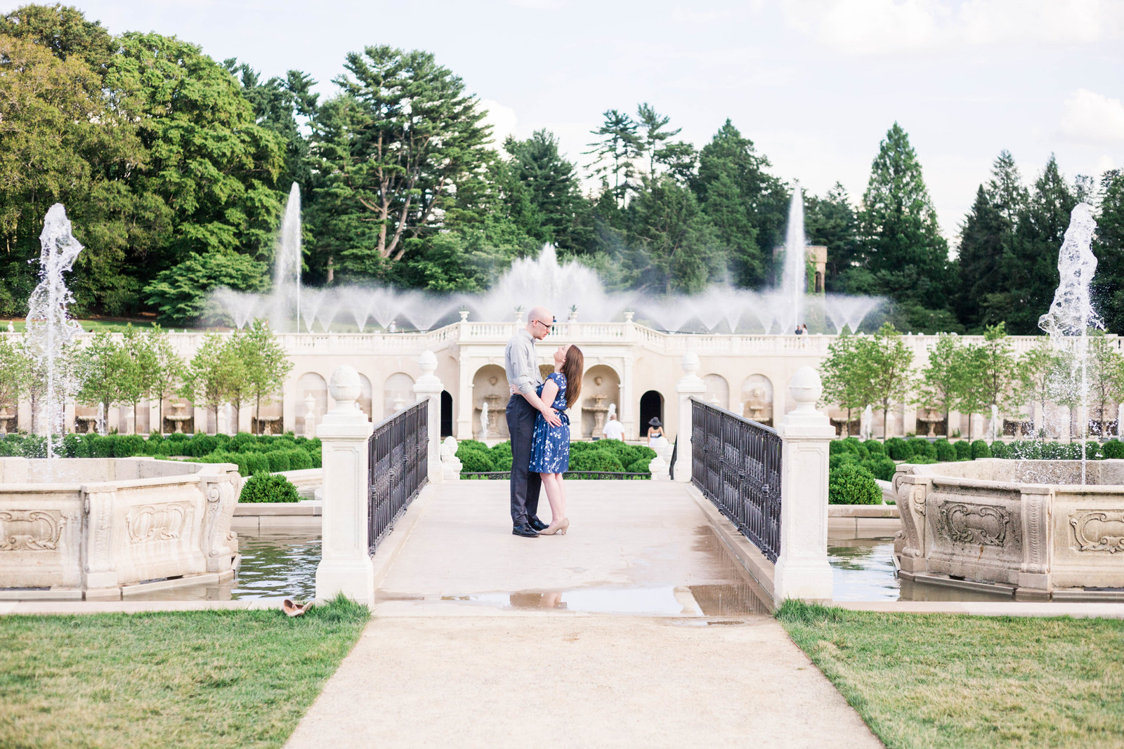Jamie & Isaac Engagement Session Longwood Gardens sneak peeks-7