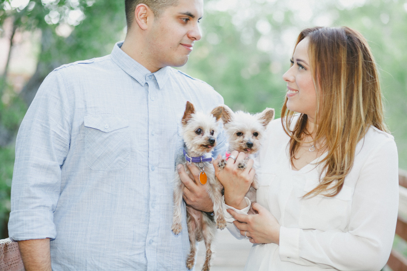 cute engagement photo with pets | Susie Moreno Photography
