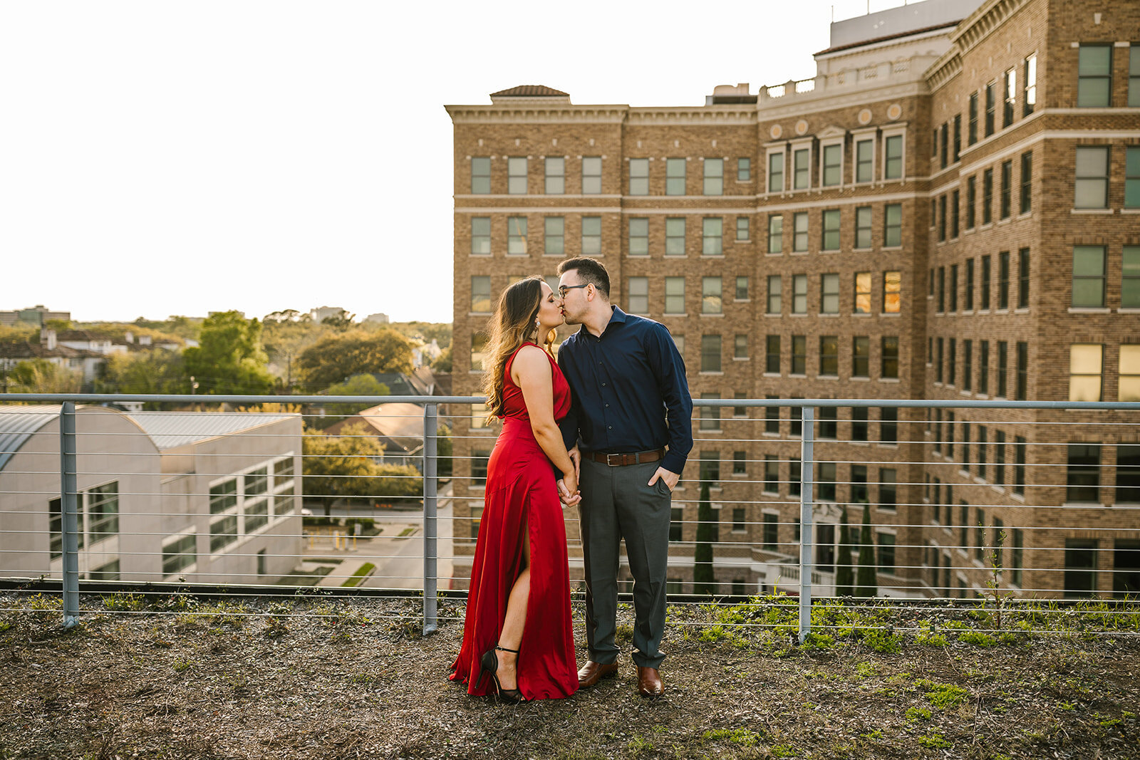 Kori+Tommy_Memorial Park and Downtown Houston Engagements_31