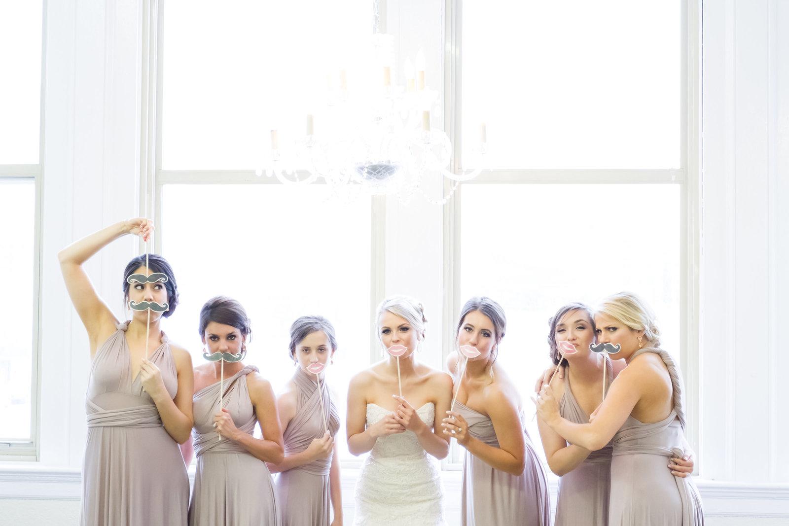Bridesmaids at The Firestone Building in Kansas City , MO
