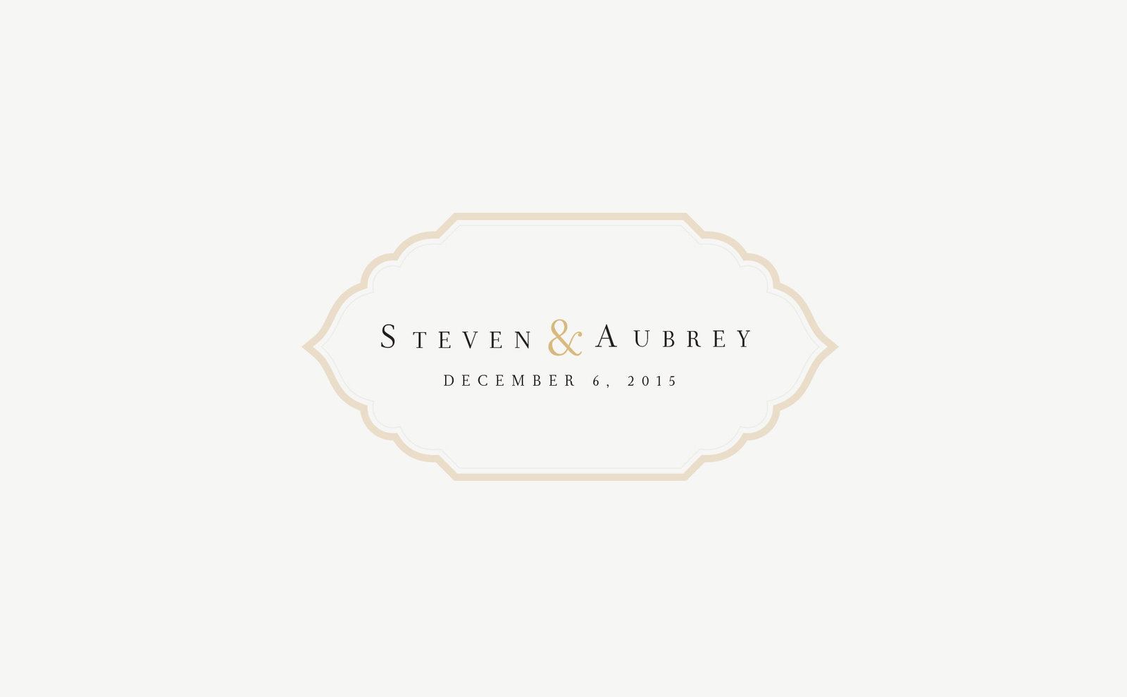 wedding-branding-logo-steven-aubrey-black-gold