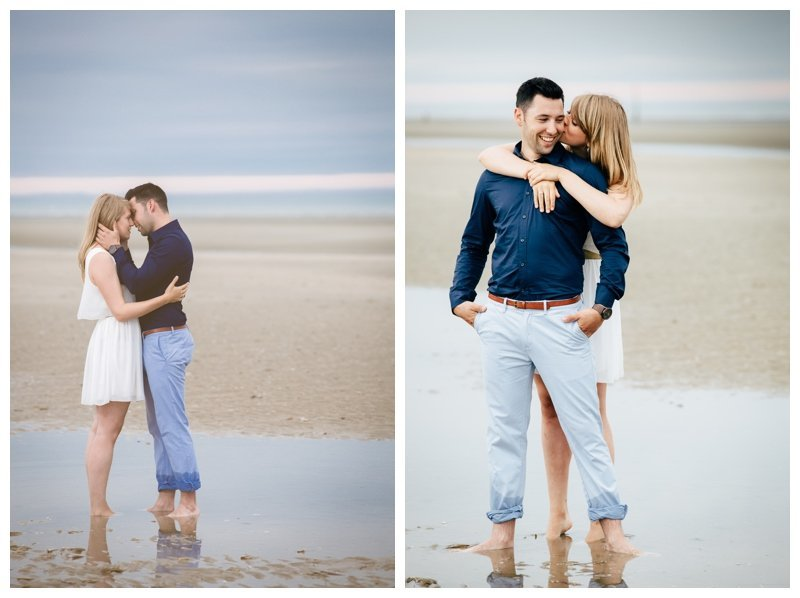 strand kust verloving shoot Emma en Wouter foto