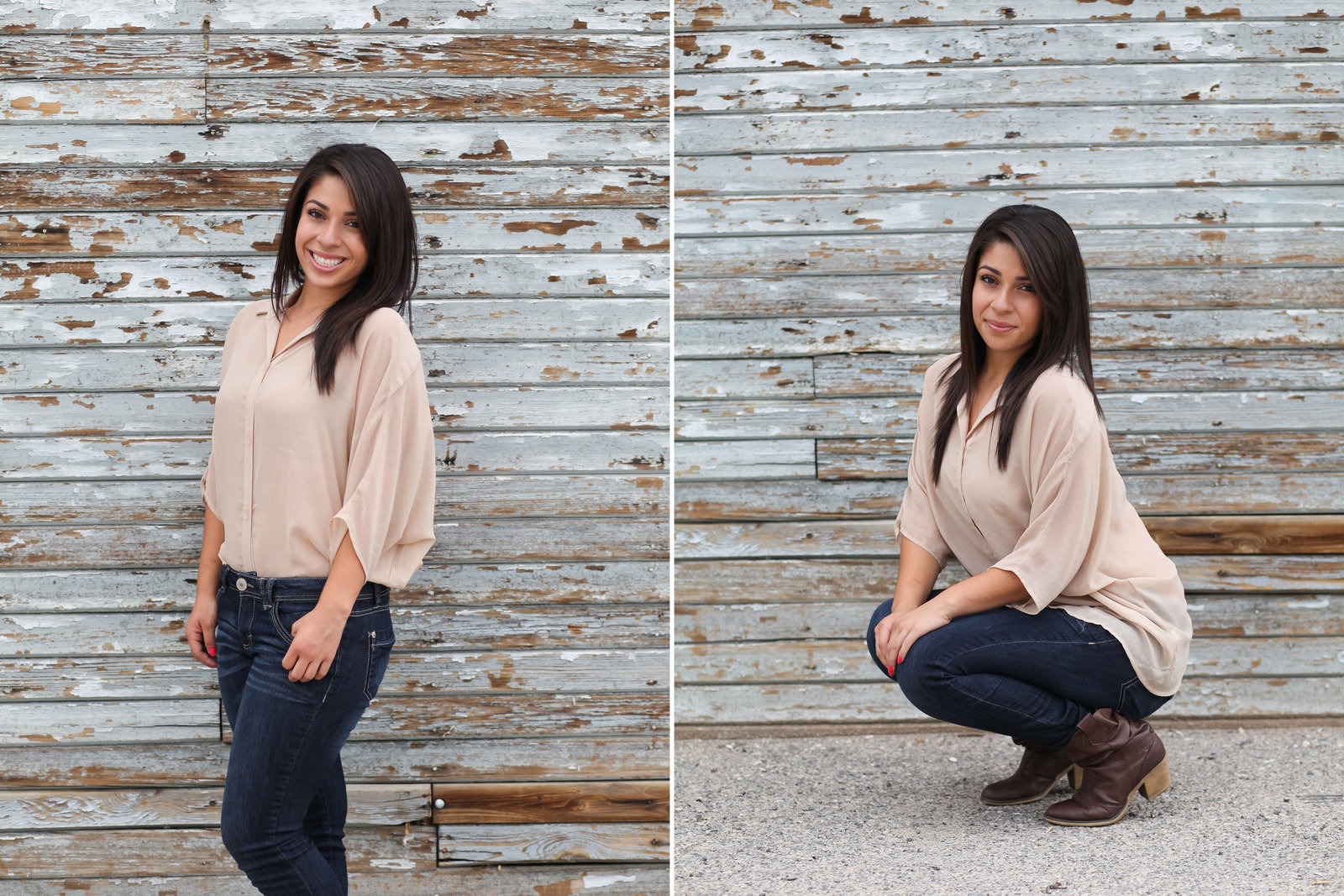 Portland high school senior photo with barn background  | Susie Moreno Photography