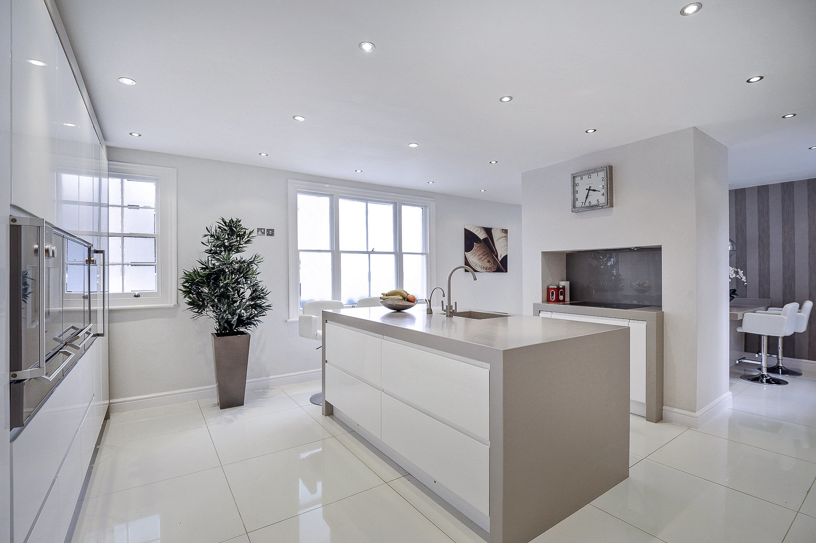 modern open plan kitchen London interior