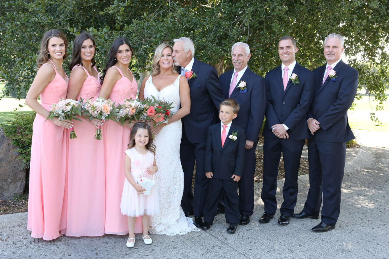 Gorgeous bridal party at Los Altos Golf and Country Club - such a beautiful Summer wedding!