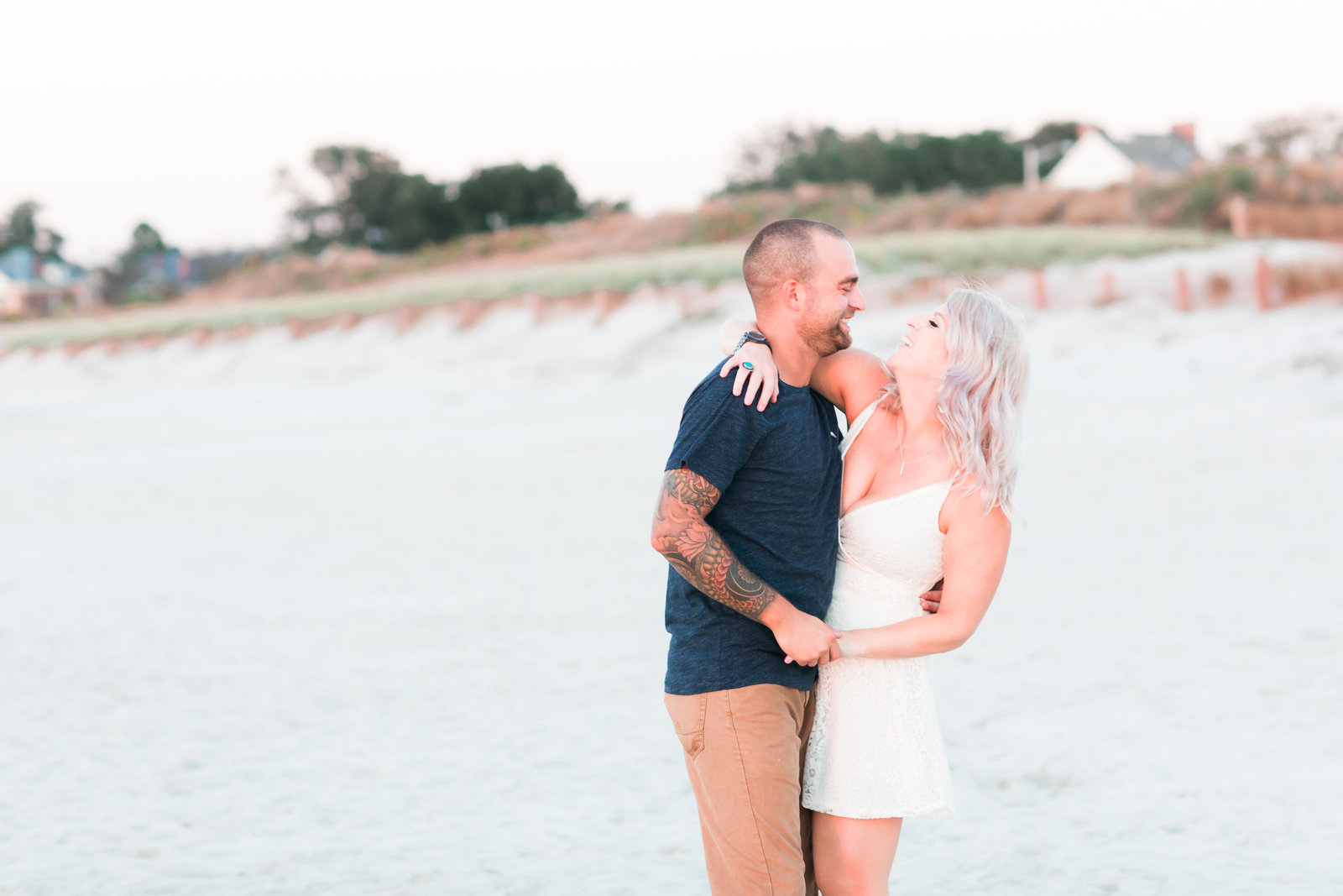 Cape Charles Sunset Engagement Session by Elizabeth Friske Photography-11