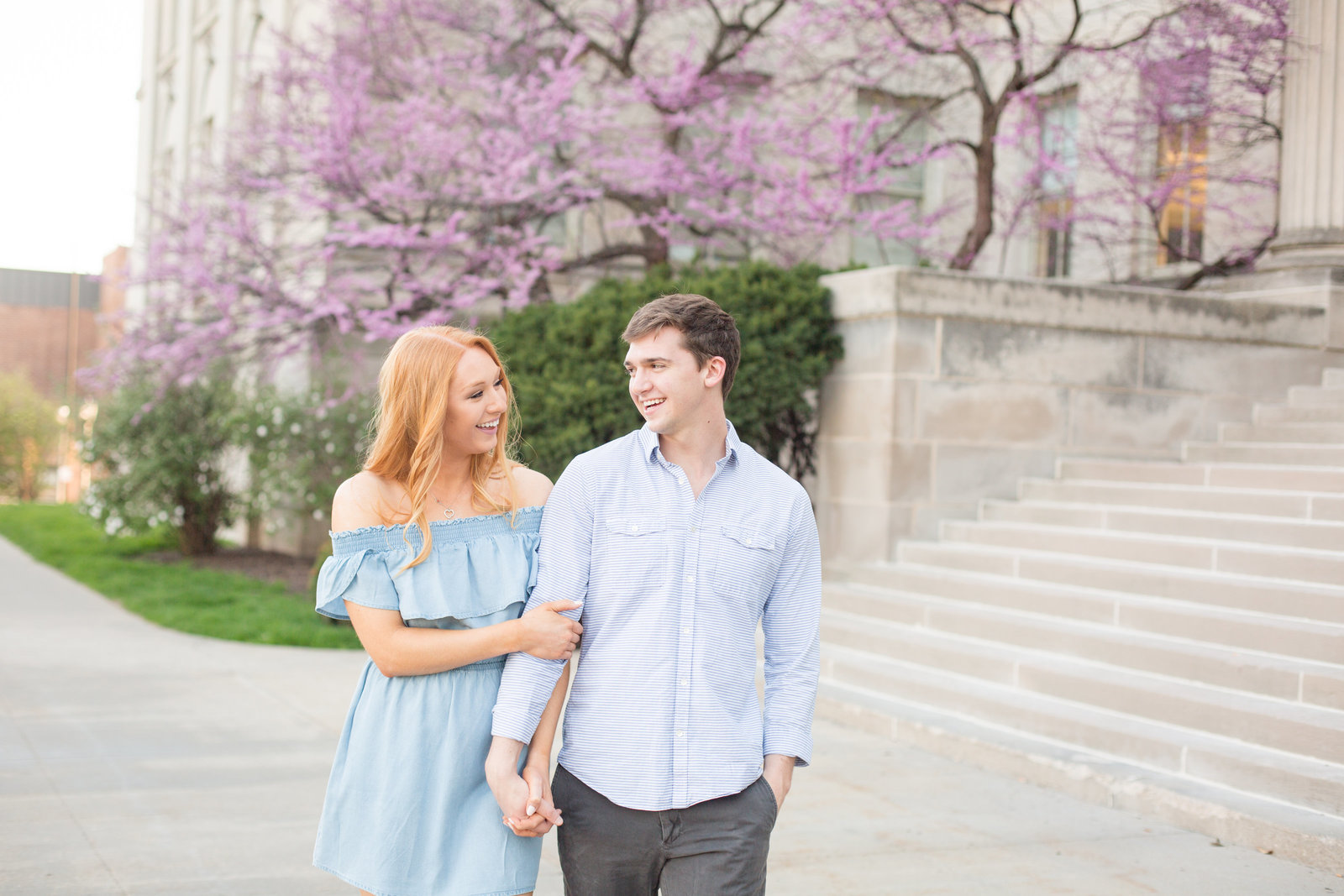 spring-engagement-session-portrait-couple-fiance-wife-photo