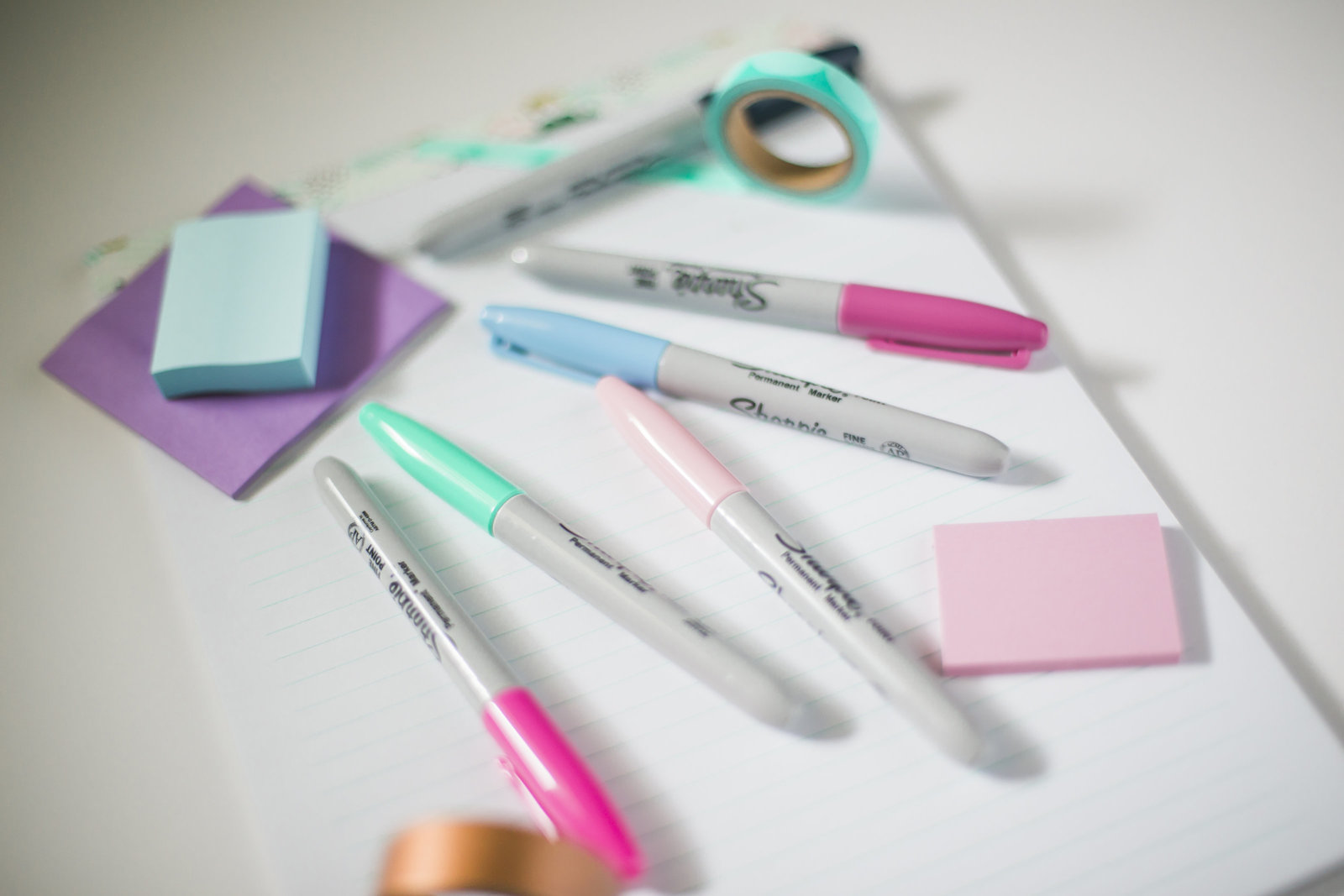 Sharpies, post-its and office supplies