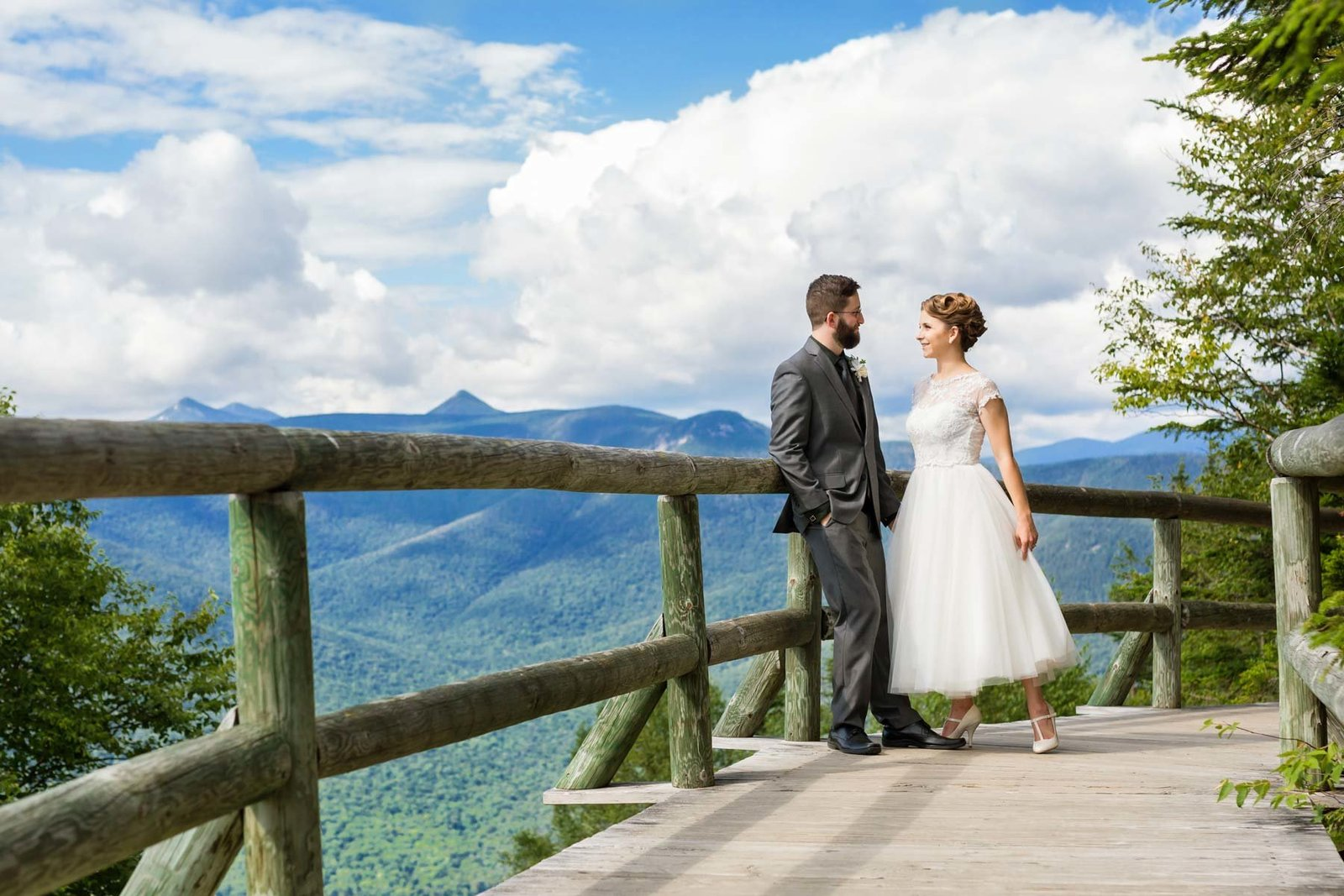 Loon Mountain Resort NH Wedding at the top of the mountain