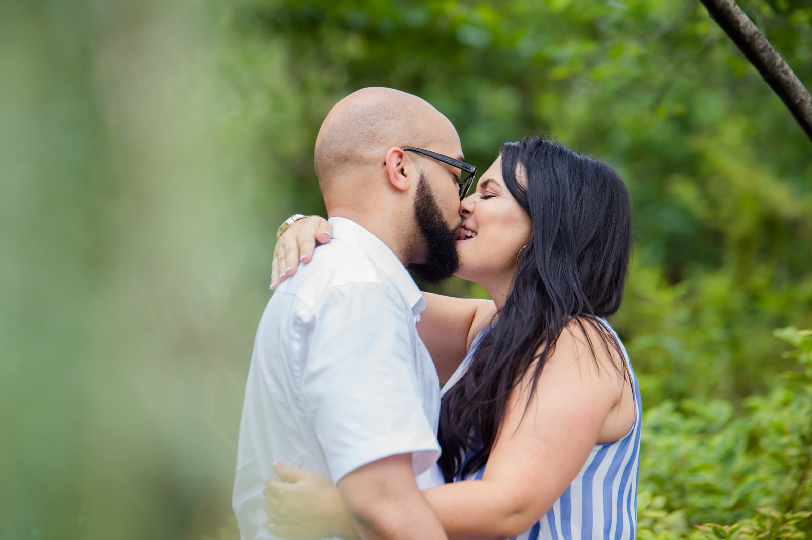 Dallas Arboretum Engagement Photo by Brittany Barclay Photography
