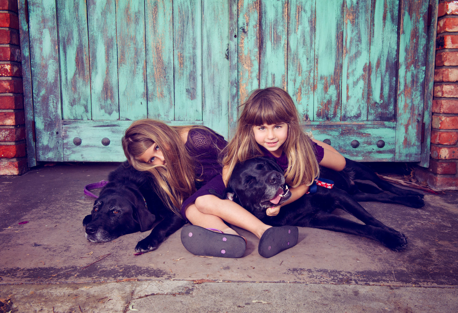 little girls and their dogs
