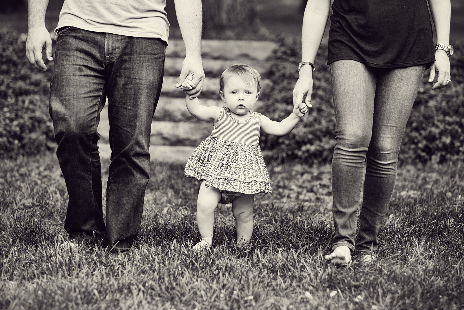 Poughkeepsie walking with mom and dad first birthday outdoor baby photography Hudson Valley NY photographer