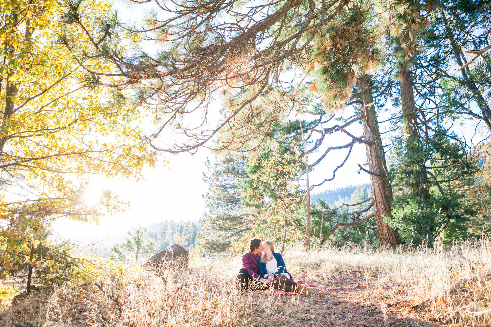 Nevada City Engagement Session Sunset Meadow