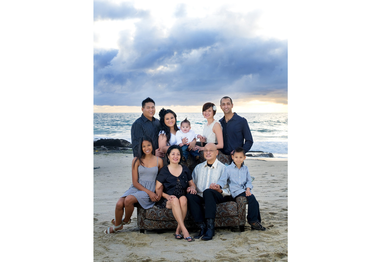family photography at the beach by inGRACE photography
