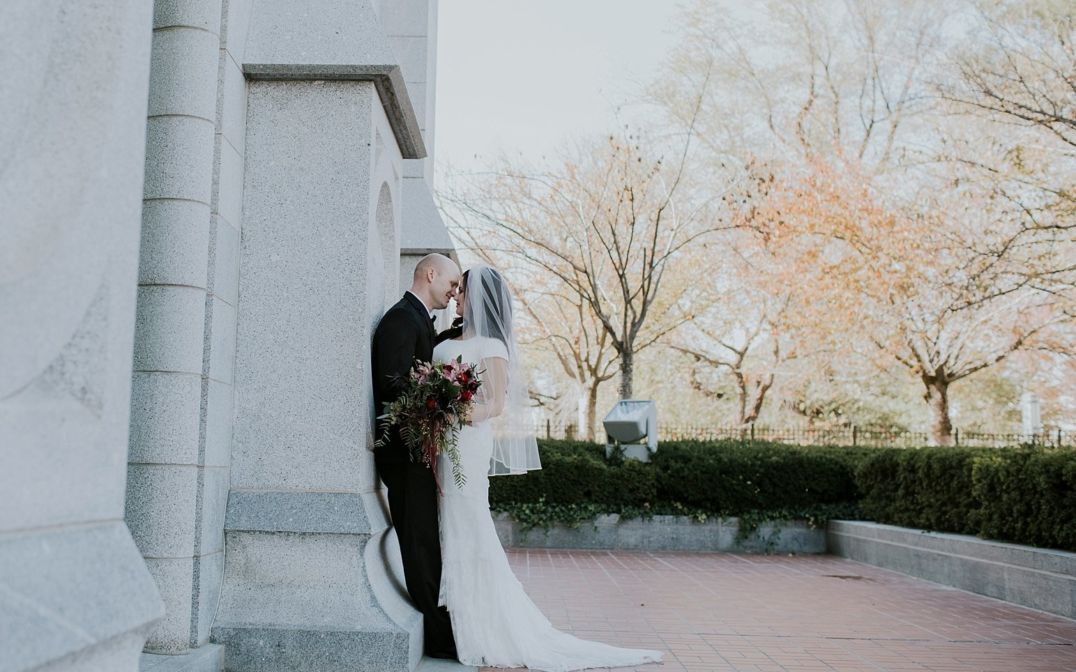 Utah Wedding Photographer Kamille Bauer Cody Calderwood Salt Lake Temple Salt Lake Hardware Building_0297