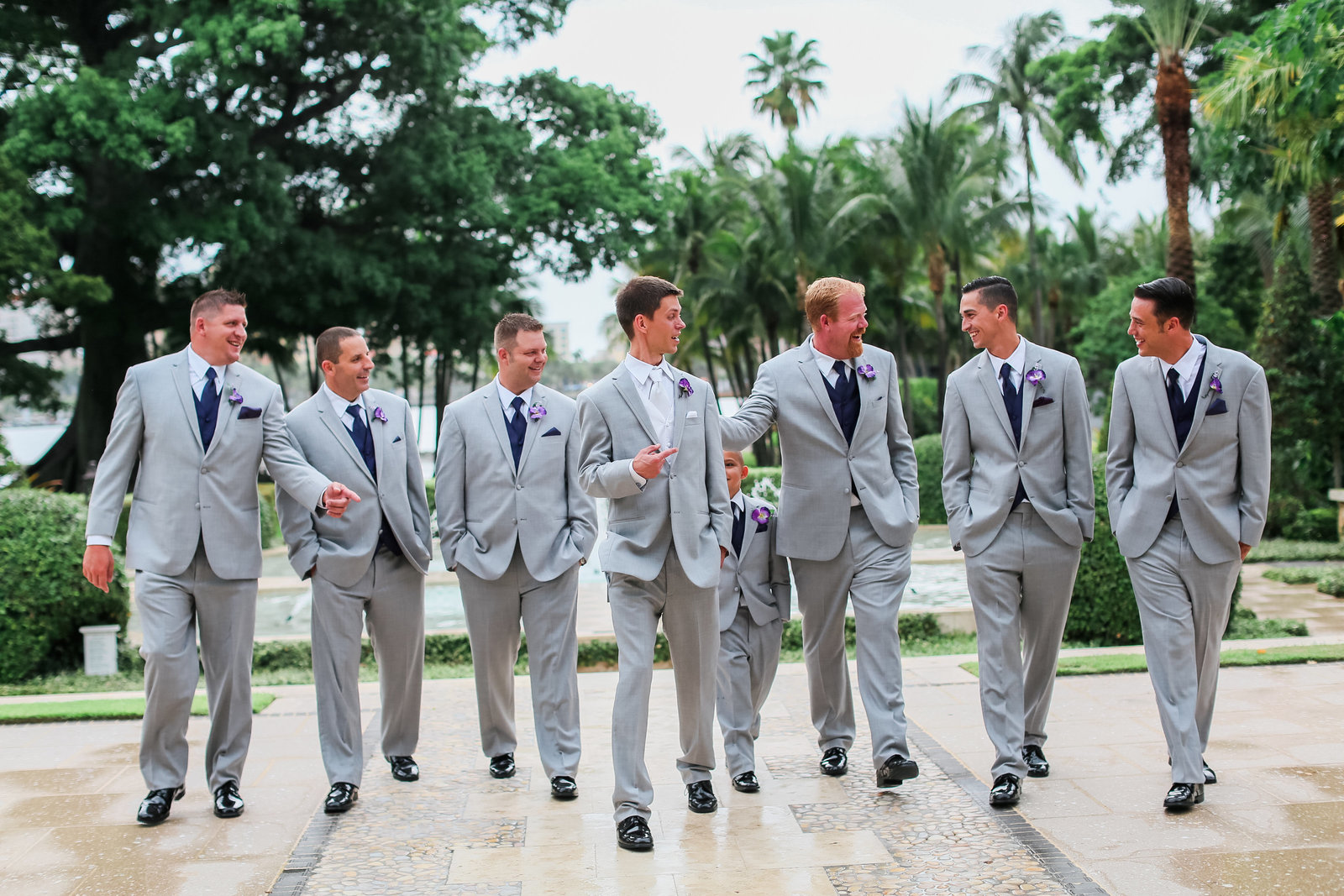 Groomsman walking