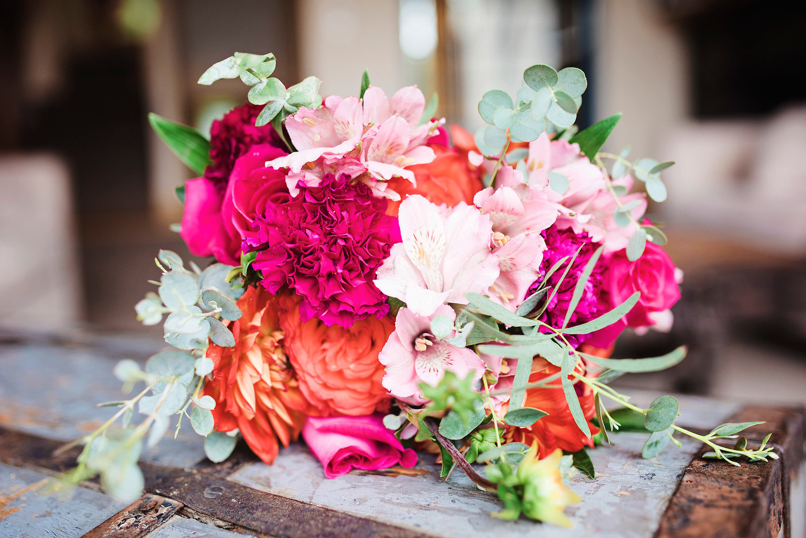 Middlebury floral bridal bouquet,