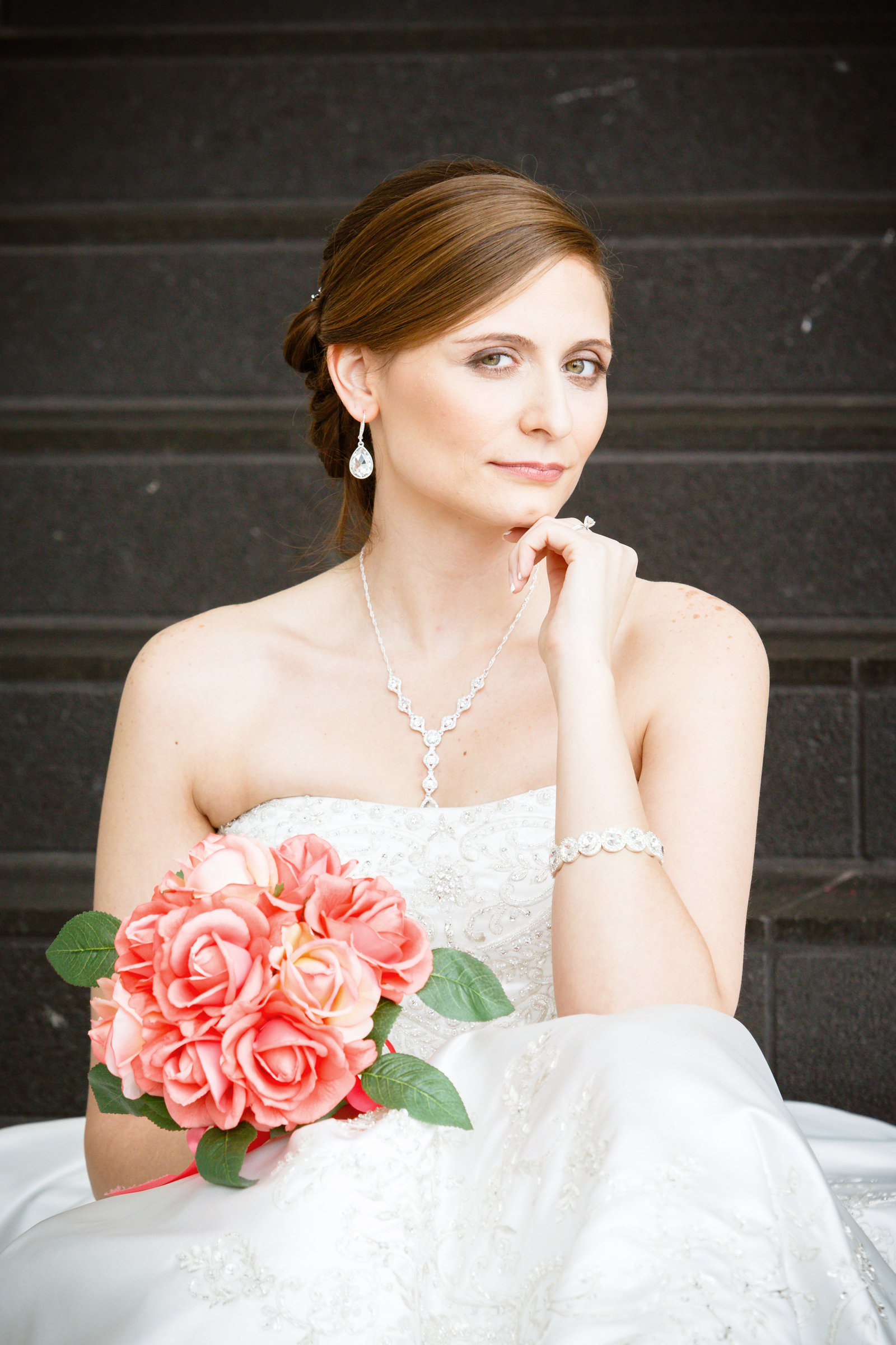 Stephanie Ferro bridal photo at The Battle House hotel in Mobile, Alabama.