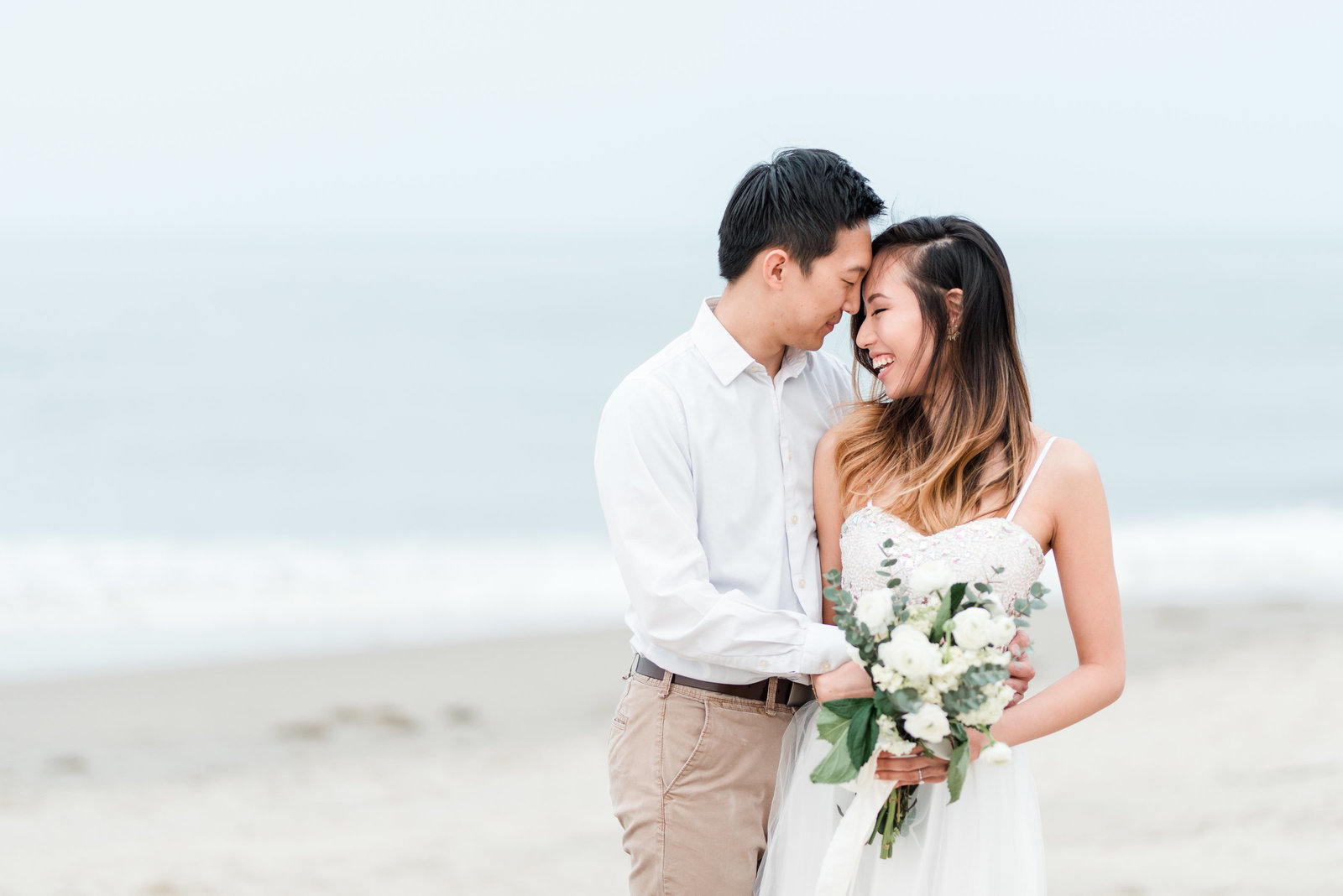 virginia beach oceanfront engagement session