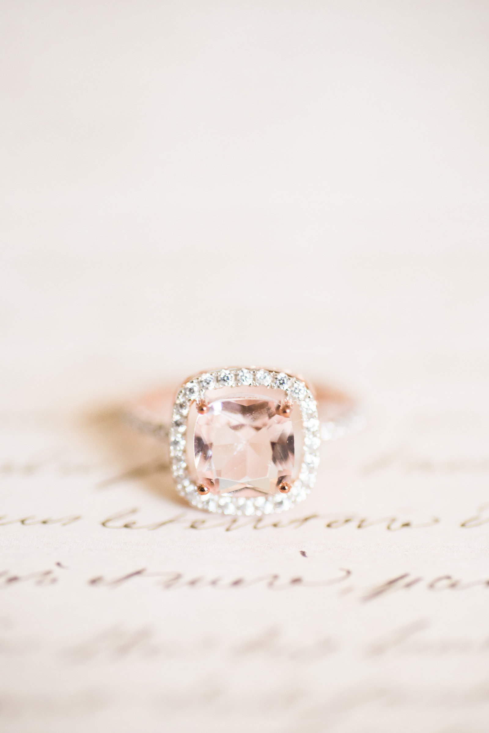 Rose gold wedding ring photo