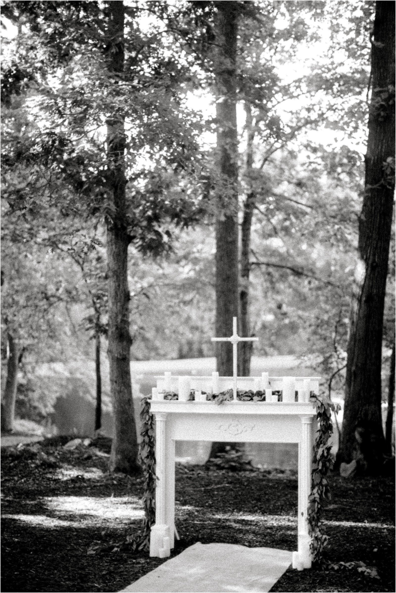 Chapel in the Woods Rustic Country Vintage Wedding Raleigh NC Plume Events Andrew & Tianna Photography-15