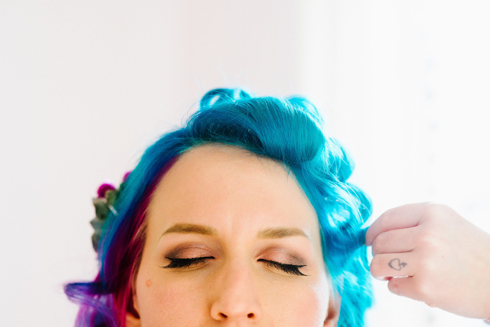 Blue Hair Bride Seattle