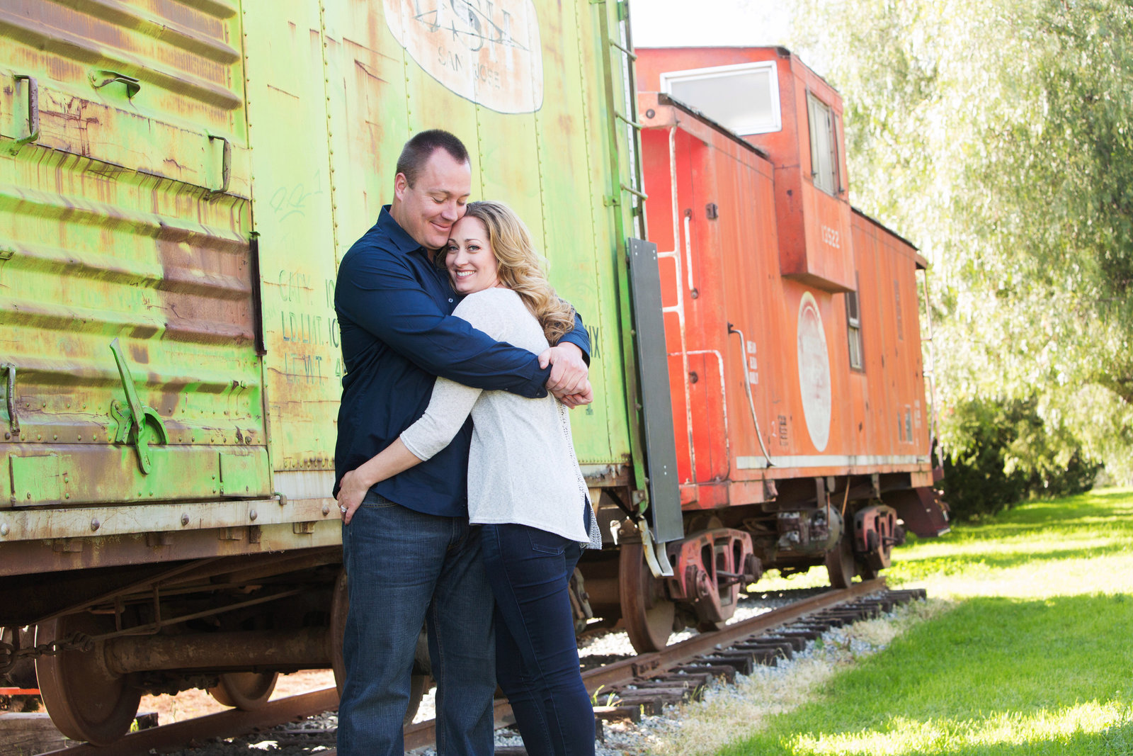 San Jose History Park, Engaged, Engagement Pictures, Jennifer Baciocco Photography, train