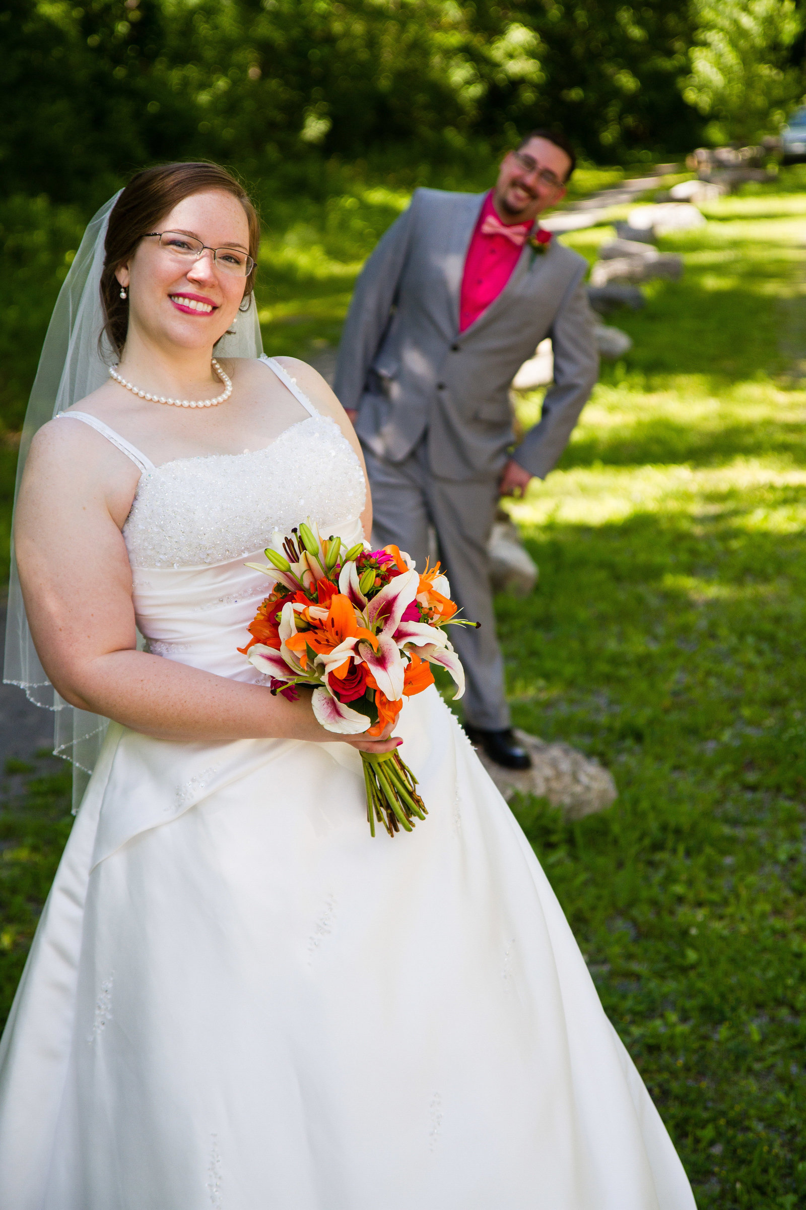 wedding photography bride and groom formal portrait