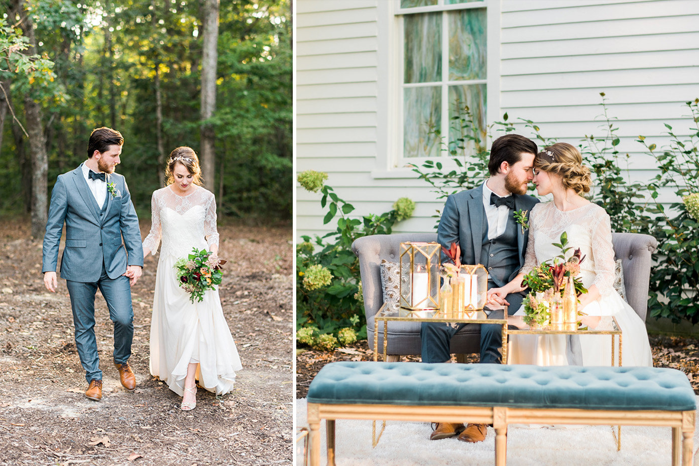 The Parlour wedding venue couple, Chapel Hill, North Carolina