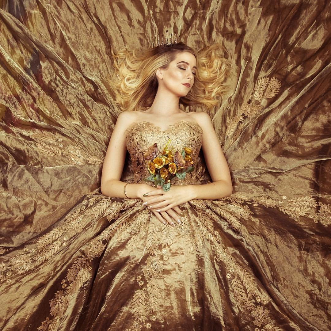 Zoella_gold_lace_silk_ballgown_by_JoanneFlemingDesign (1)