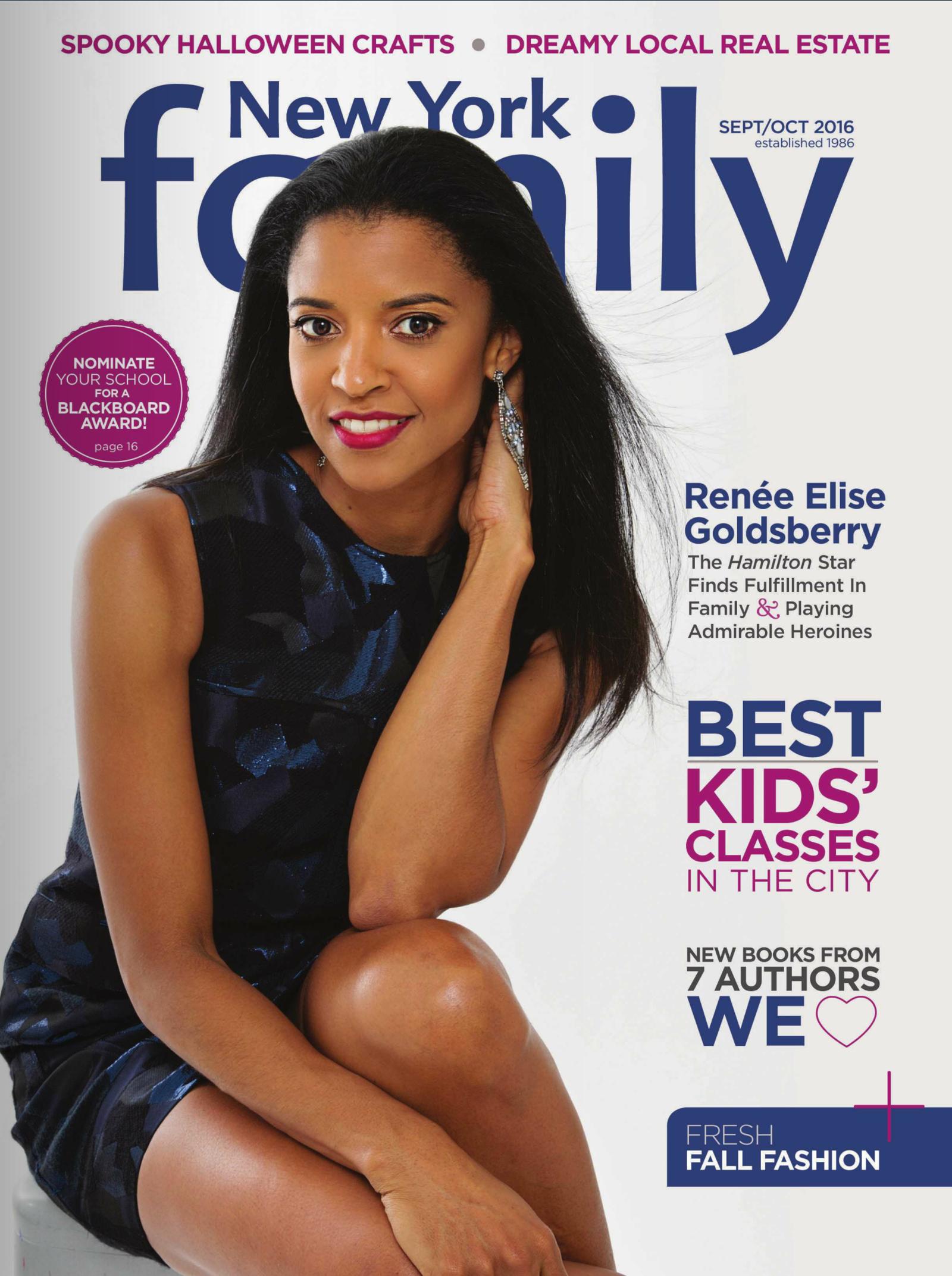 Renee Elise Goldsberry New York Family Cover