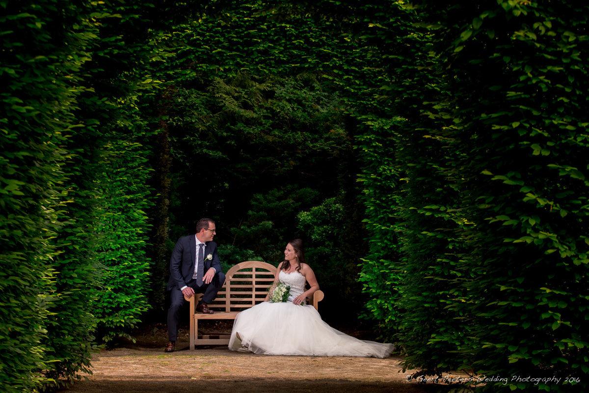 De Groene Jager Brasschaat trouw Sylvie en Tuur foto