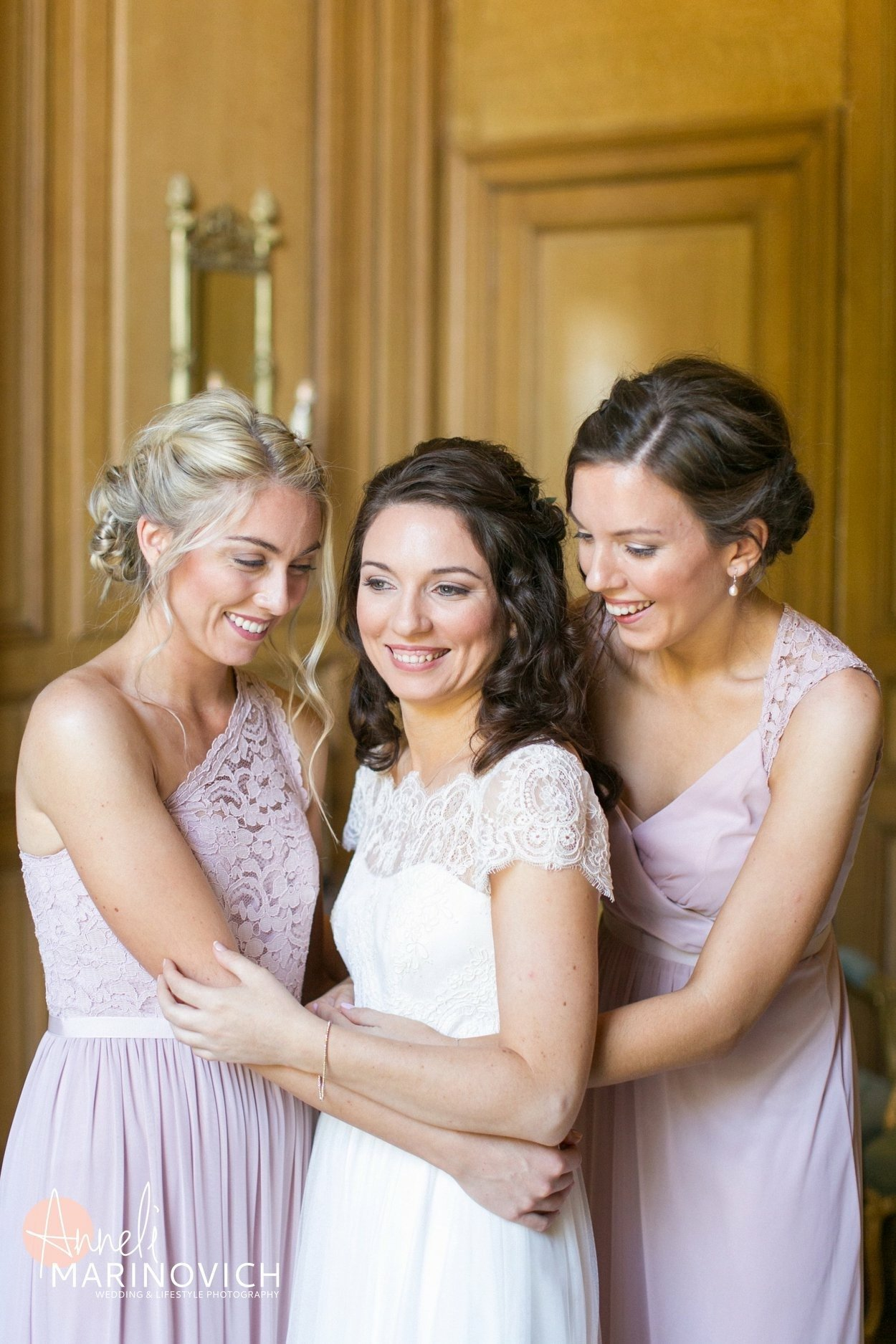 French chateau wedding makeup