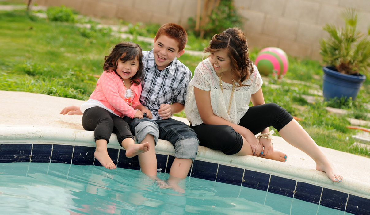 Family Session  water fun time